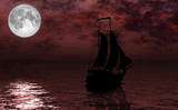 Sailing under Moon Rising