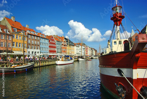 Nyhavn (new Harbor) in Copenhagen, Denmark.