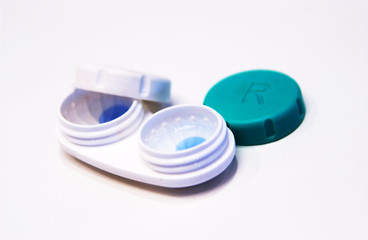 Contact lenses in case