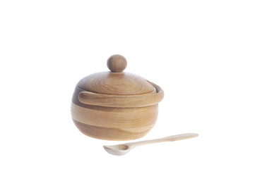 wooden sugar bowl