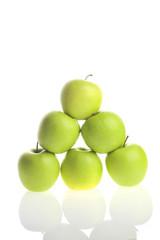 apple piramide on white