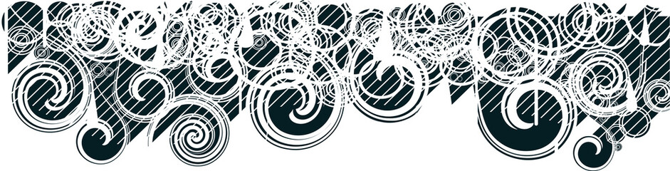 Abstract swirly background black.