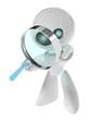 Detaily fotografie Robot detektiv