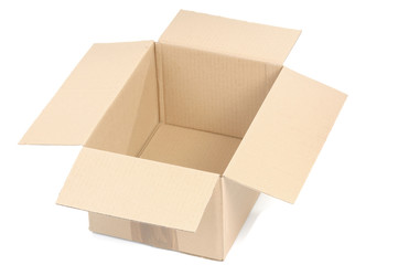 Cardboard box isolated on white