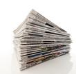Stapel von Zeitungen, Altpapier, Informationen