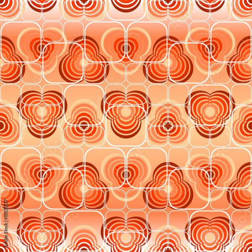 Seamless red tile vector pattern with ornament