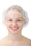 happy woman before plastic surgery/ face lift poster