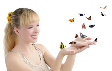 la ragazza con le farfalle
