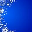 Weihnachtsrahmen auf blauem Hintergrund