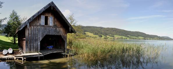 idyllisches Bootshaus Panorama