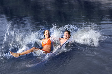 Happy Water Splashing