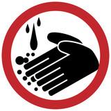 Hand washing circle poster