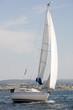Lovely sailing boat at sea