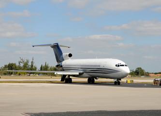 Abandoned jet airplane