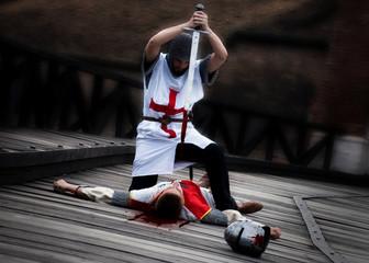 Templar killed his opponent