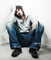 jeune homme déprime depression
