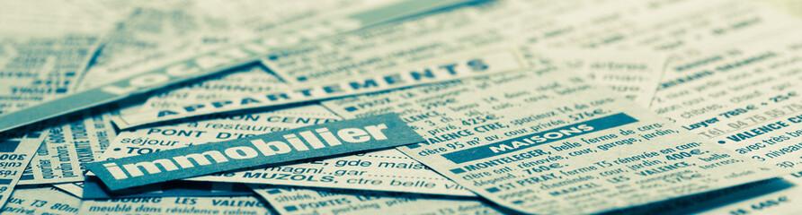 petite annonce immobilier - journal d'annonces en bandeau