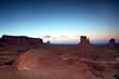 Post Sunset in Monument Valley at the Famous Buttes