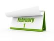 calendar, february day one