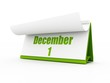 calendar, december day one