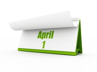 calendar, april day one