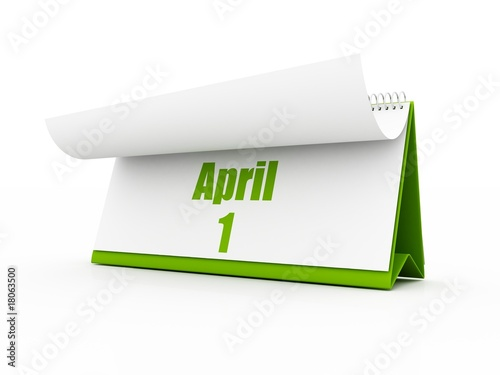 calendar, april day one