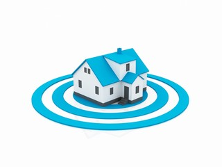 illustration of a house in the center of a target