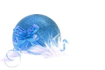 Blue Christmas and New Year ornament