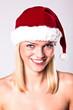Sexy Santa Blond Girl