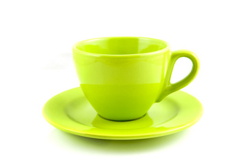 Green coffee-cup