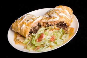 Mexican Burrito plate