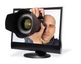 paparazzi through a computer screen poster