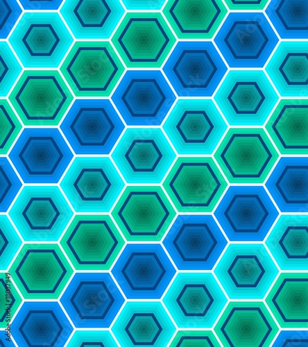 Green-blue tiles. Seamless vector pattern
