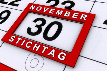 Stichtag 30. November