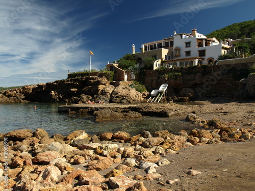 Spanish  beautiful villa on the beach.