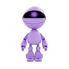 Lilac robot with head-eye