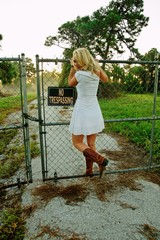 trespasser at the fence