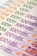 Euro banknote series background