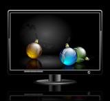 LCD panel with fir balls