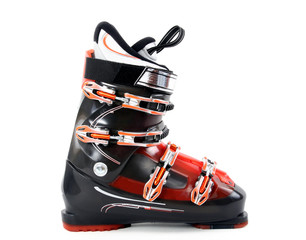 Ski boot isolate on white background