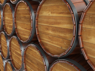 Barrels and hoops.