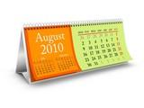 August 2010 Desktop Calendar poster