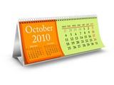 October 2010 Desktop Calendar poster