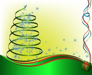 abstract christmas tree. vector illustration