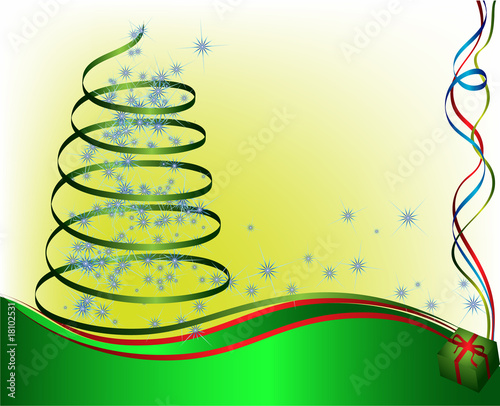 abstract christmas tree. vector illustration