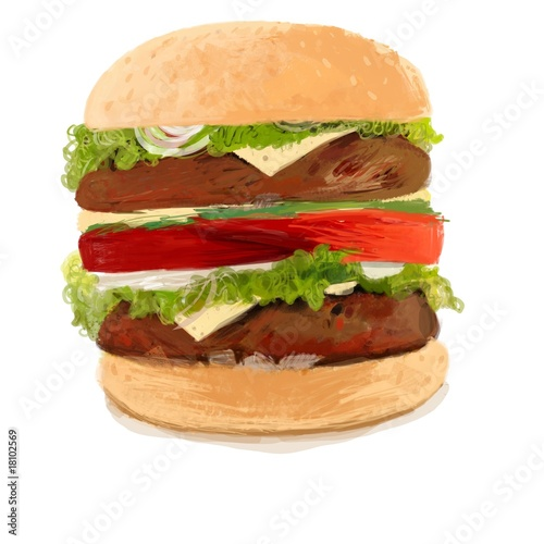 Dibujo natural Hamburguesa