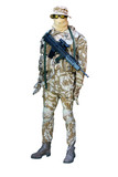 A Manikin Display of a Camoulaged Soldier. poster