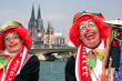 Leinwandbild Motiv Gruß aus Köln
