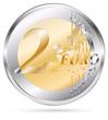 twp euro coin