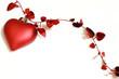 decorazione a cuore rossa